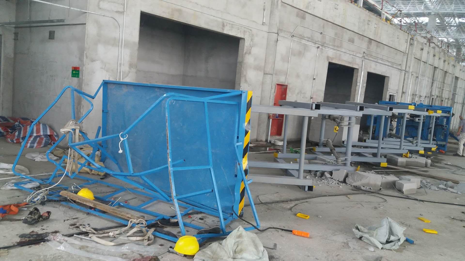 江苏南通兴东机场在建工地高空作业平台侧翻事故